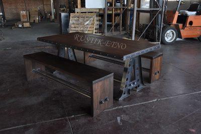 Metal drvo industrial dizajn